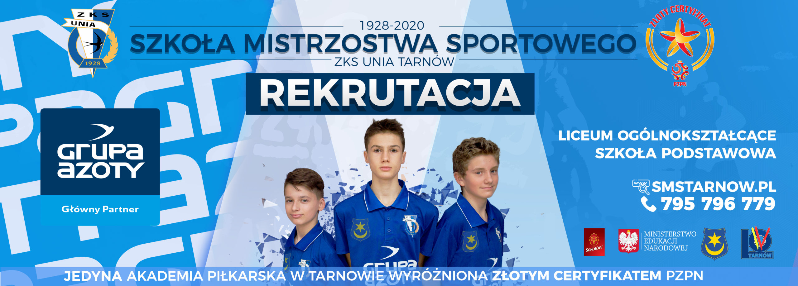 Rekrutacja do Liceum i Szkoły Podstawowej w SMS Tarnów